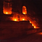 Sur le chemin de Petra by night